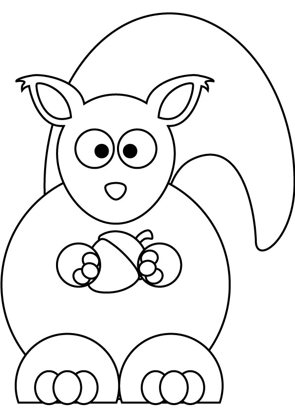 595x842 Baby Squirrel Coloring Pages Pictures