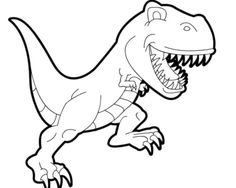 236x188 Simple T Rex Coloring Pages Kids Colouring Pages