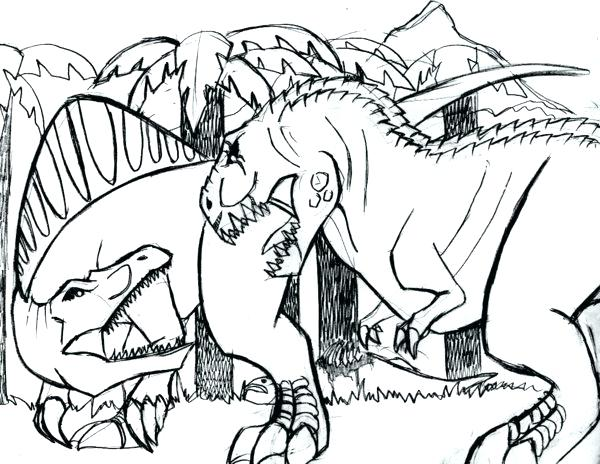 600x464 T Rex Coloring Pages
