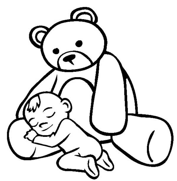 Baby Teddy Bear Coloring Pages at GetDrawings.com | Free for ...