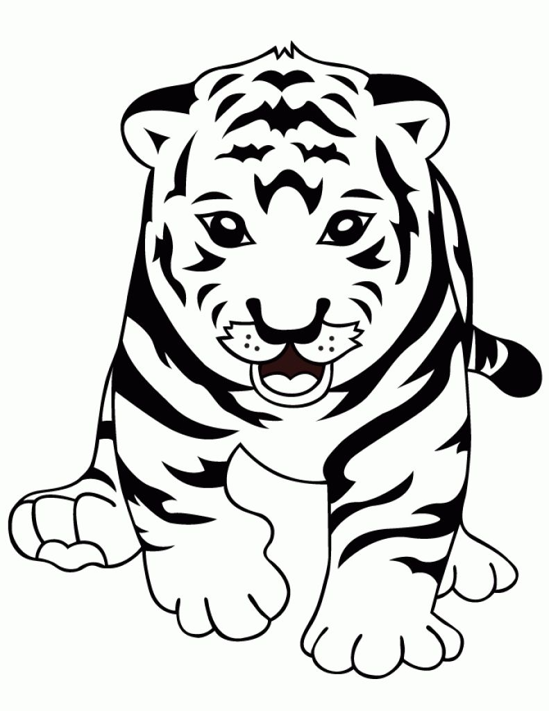 Baby Tiger Coloring Pages at GetDrawings.com | Free for personal use ...