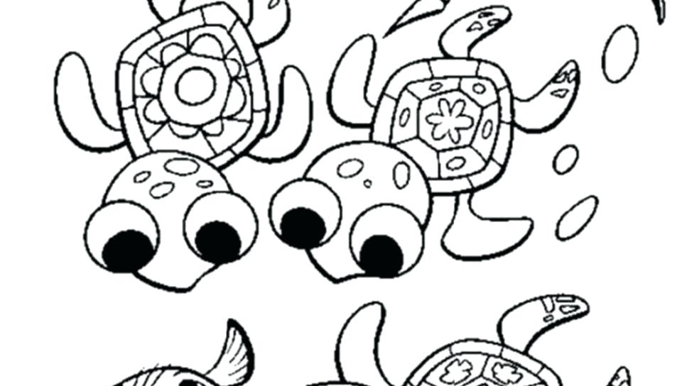 960x544 Cute Turtle Coloring Pages Coloring Pages Cute Sea Baby Turtle