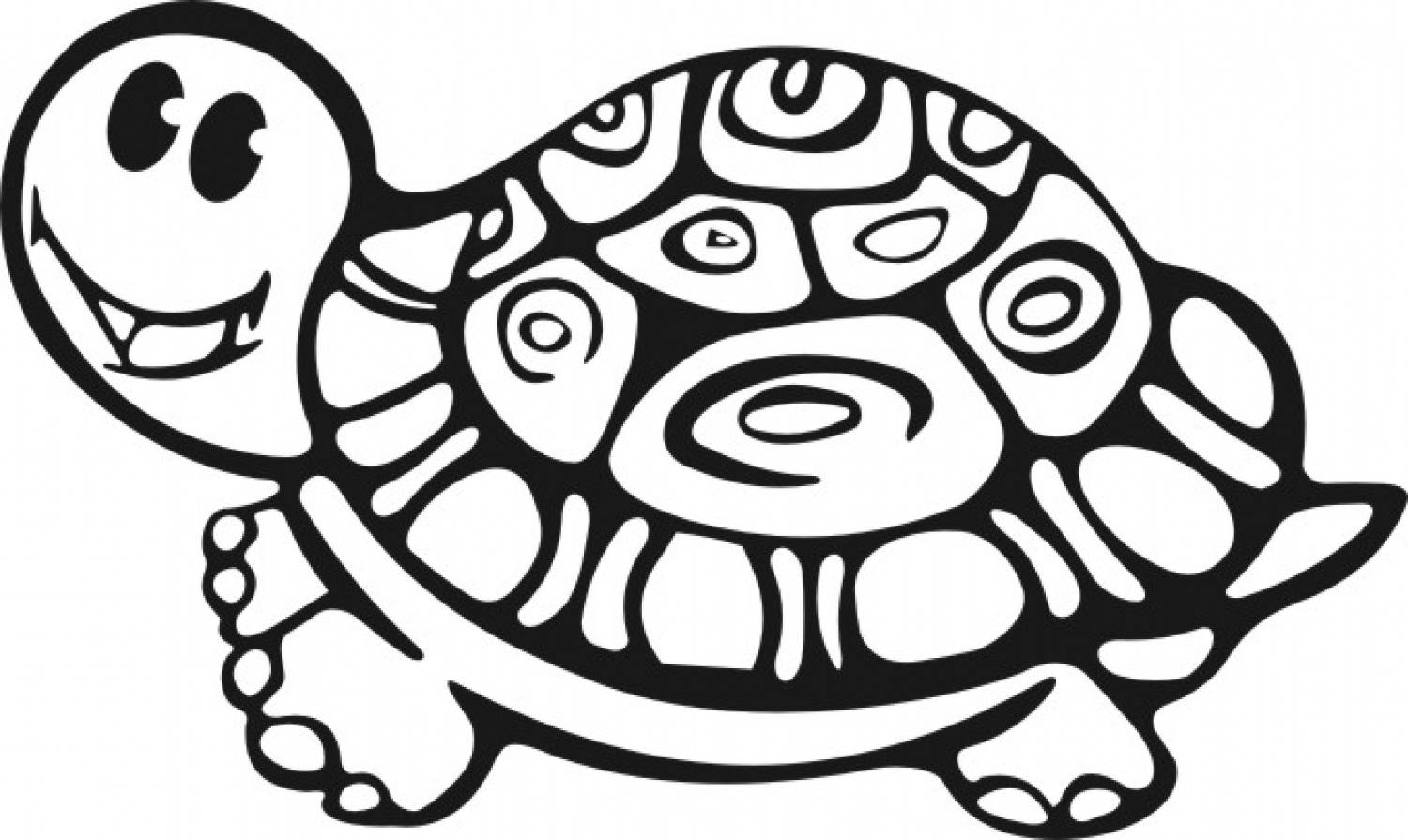 1500x895 Dazzling Design Turtle Coloring Pages For Adults Printable