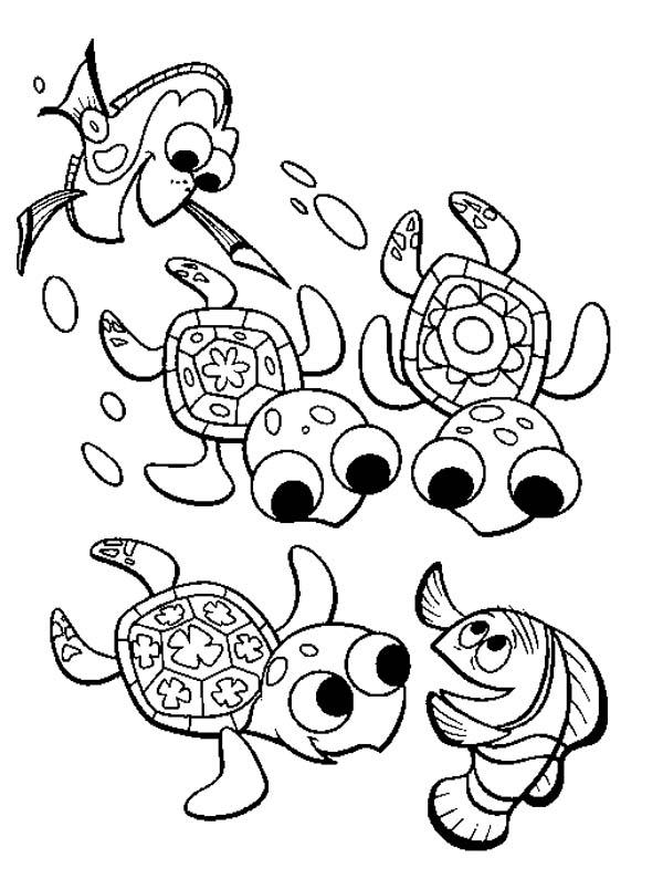 600x795 Fingding Nemo Sea Turtle Coloring Page
