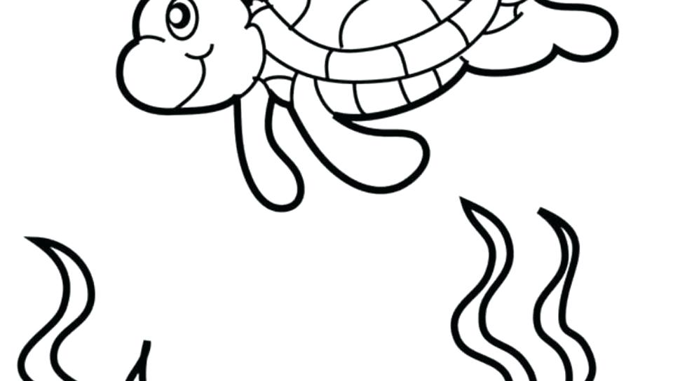 960x544 Printable Turtle Coloring Pages Coloring Pages Cute Sea Baby