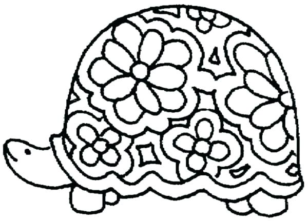 600x431 Baby Turtle Coloring Pages