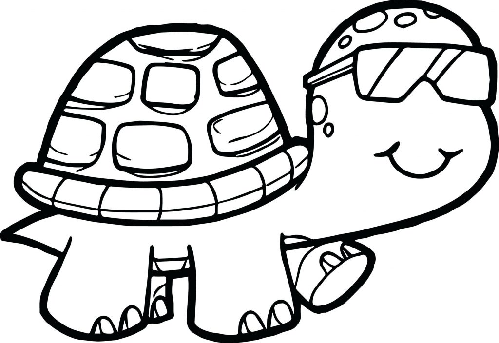 1024x704 Coloring Page Coloring Pages Turtle Glasses Tortoise Page