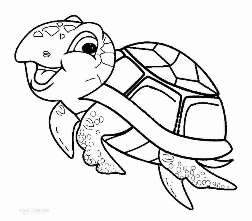 850x747 Coloring Pages Of Baby Turtles