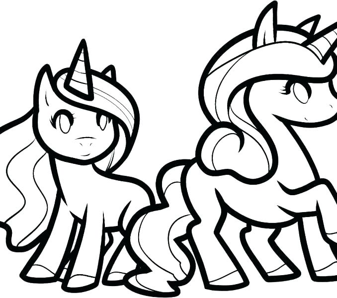 678x600 Coloring Pages Of Unicorns