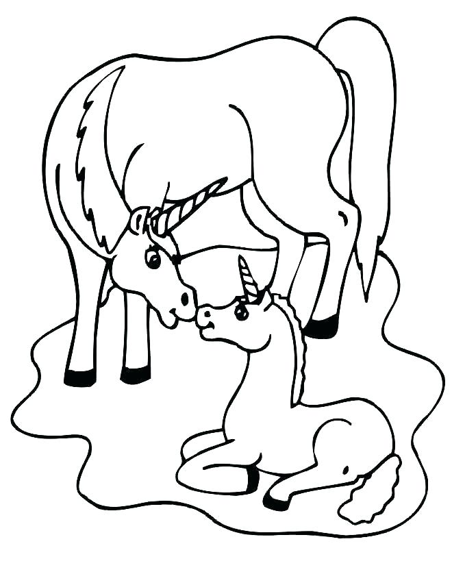 660x854 Unicorn Coloring Pages To Print