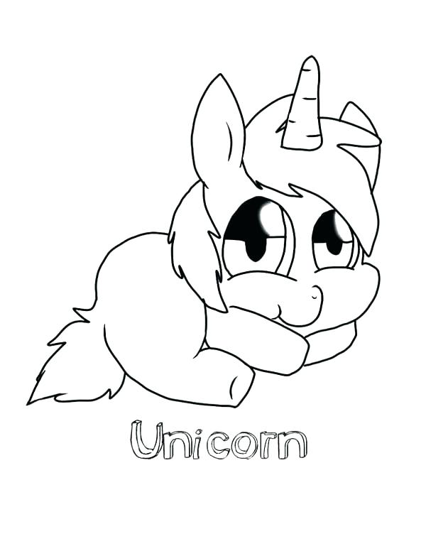 600x776 Baby Unicorn Coloring Pages