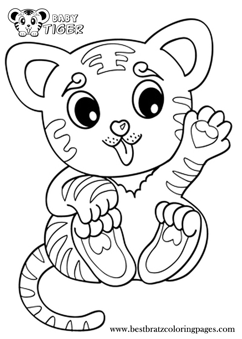 800x1120 Baby Tigers Coloring Pages Acpra