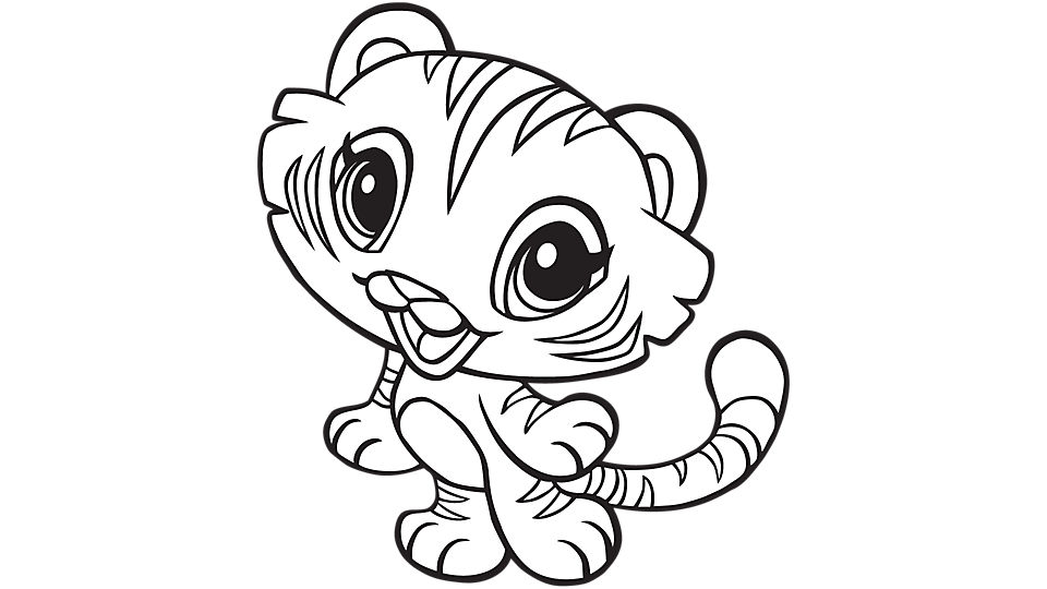960x540 Cute Tiger Coloring Pages