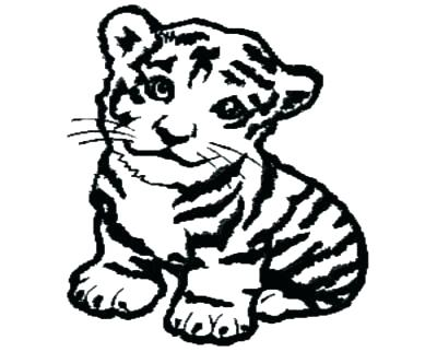 400x322 Cute Tiger Coloring Pages Cute Tiger Coloring Pages Baby Tiger