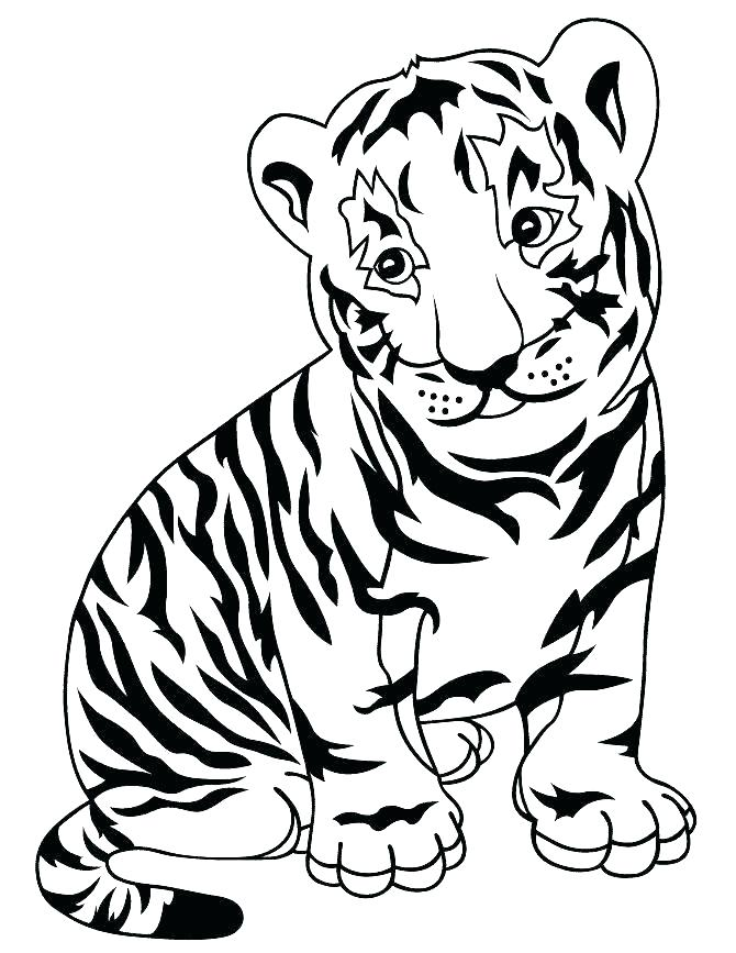 670x867 Tiger Picture To Color Baby Tiger Coloring Pages Baby Tiger