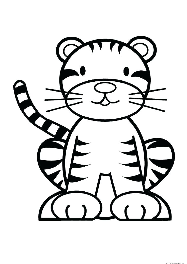 736x1041 White Tiger Coloring Pages Baby Tiger Coloring Pages Free Tiger