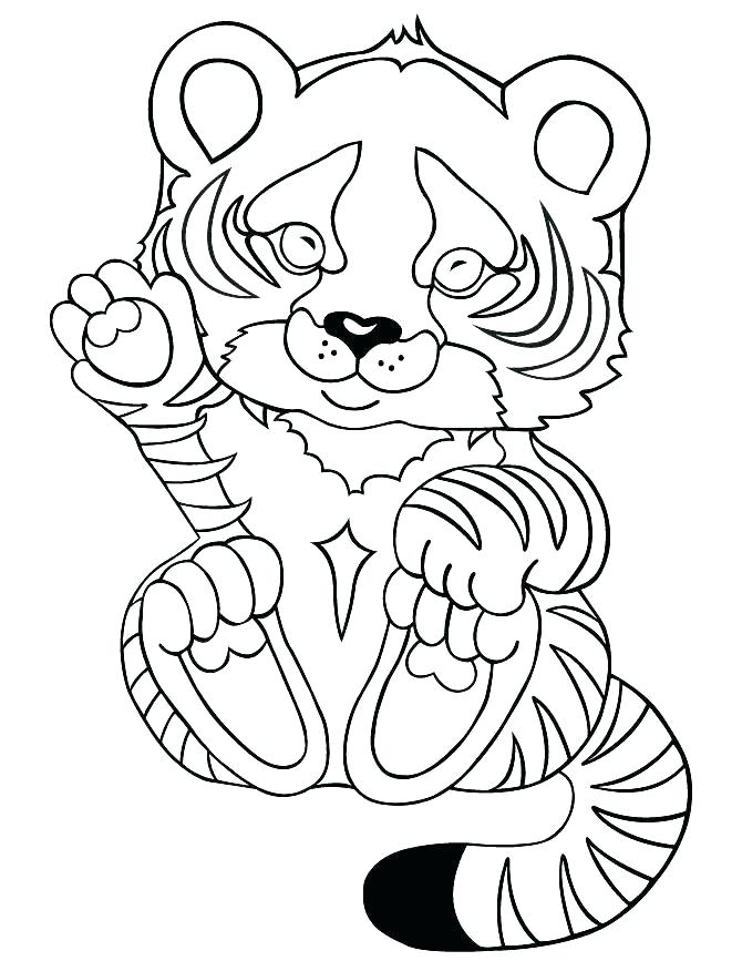 670x867 Baby Tiger Coloring Pages Baby Tiger Coloring Pages Coloring Page