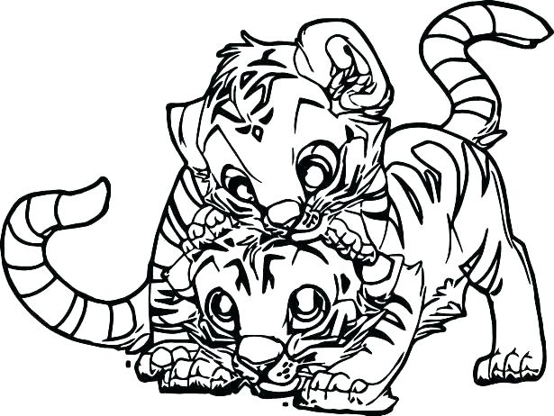 615x462 Baby Tiger Coloring Pictures Standing Tiger Coloring Page Free