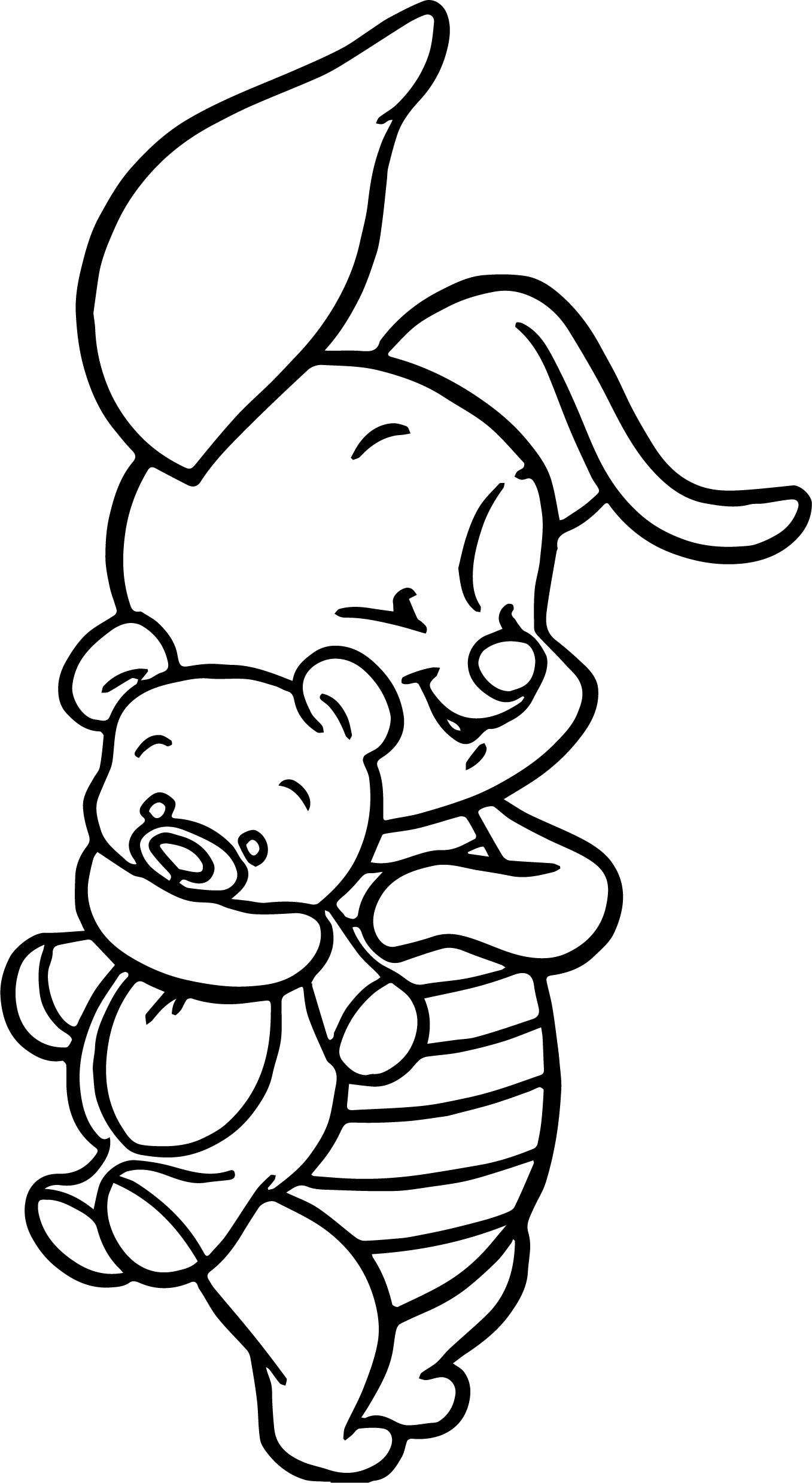 ausmalbilder disney winnie pooh baby  malvorlagen
