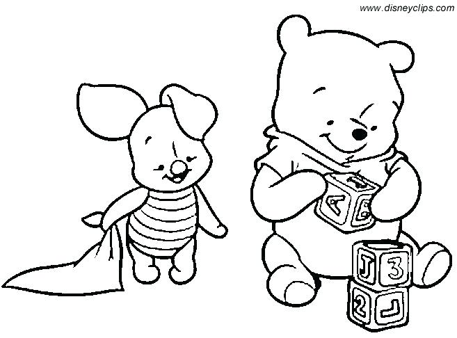 Baby Winnie The Pooh Coloring Pages At Getdrawingscom