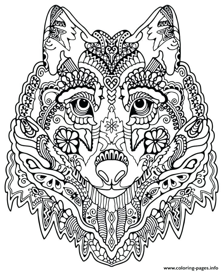 736x896 Cute Wolf Coloring Pages Wolf Coloring Pages For Adults Cute Wolf