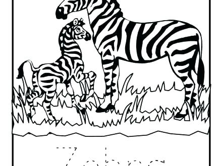 440x330 Coloring Pages Of Zebras Baby Zebra Coloring Pages Cartoon Baby