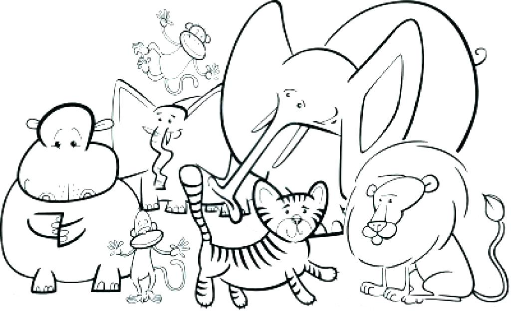 1024x632 Coloring Pages Of Zoo Animals Coloring Pages Zoo Animals Baby Zoo