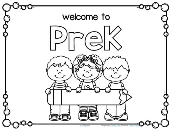 580x448 Welcome Back To School Coloring Pages Welcome To Kindergarten Back