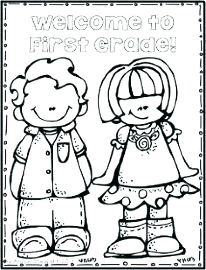 680x890 Back To School Coloring Page Welcome To First Grade Coloring Page