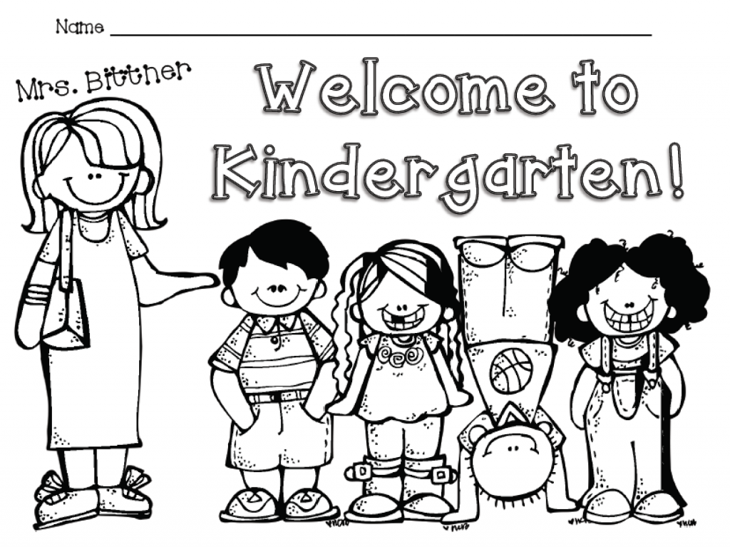 1024x767 Back To School Coloring Pages First Grade And Kindergarten