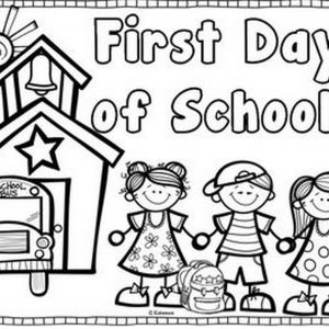 300x300 Back To School Coloring Pages For Grade Fresh First Day School
