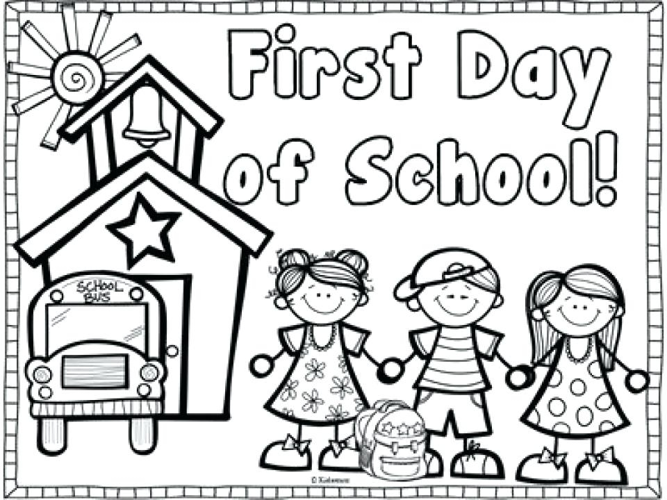 960x720 Back To School Coloring Pages For First Grade Mesmerizing Welcome