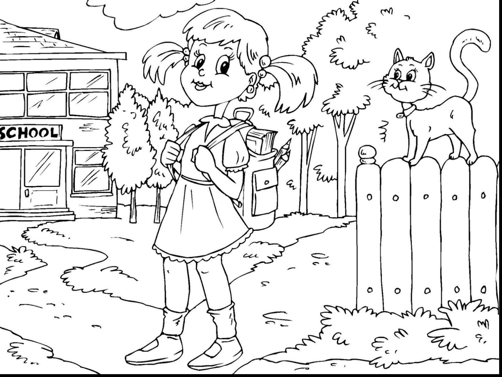 1760x1320 Kindergarten Coloring Pages Lovely Back To School Coloring Pages