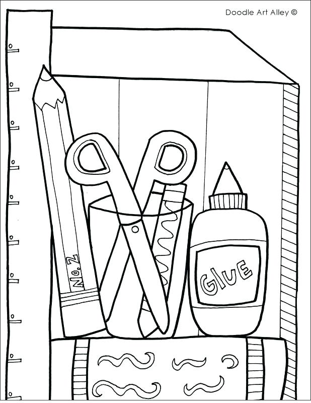 618x800 School Objects Coloring Pages Back To School Coloring Pages