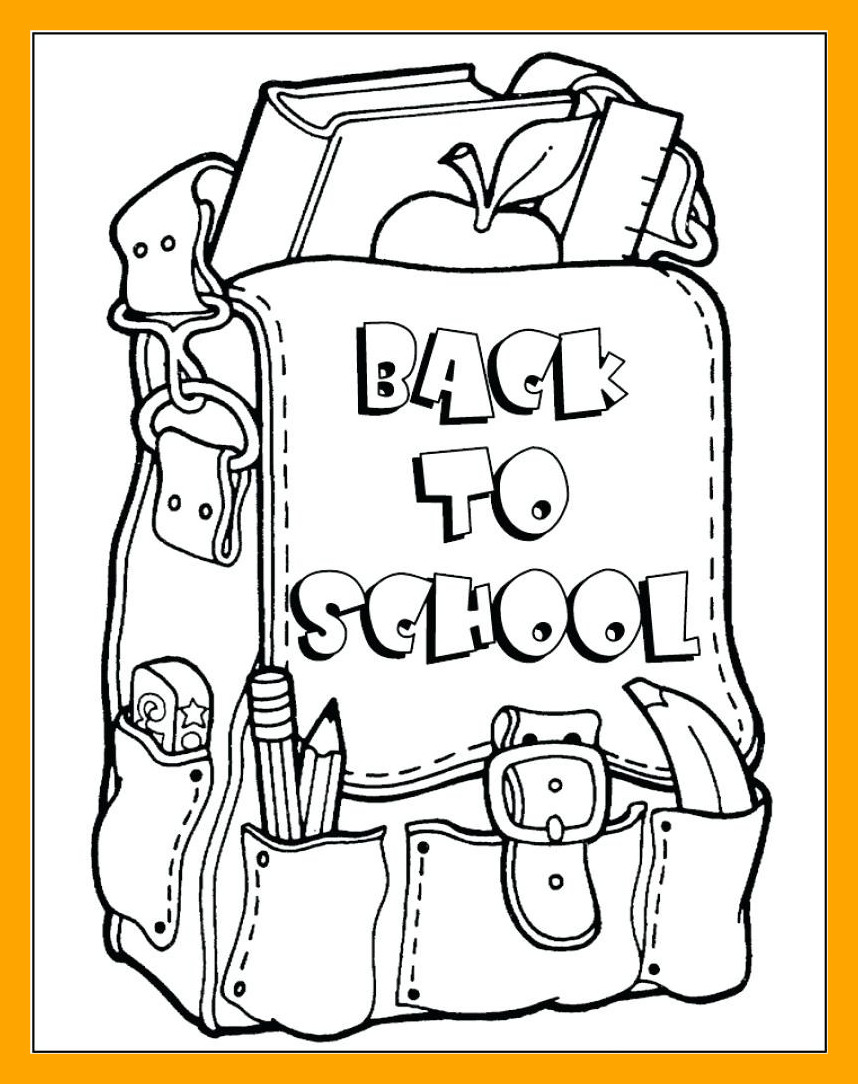 858x1084 Awesome Welcome Coloring Pages For Back To School First Grade