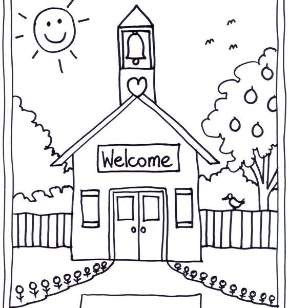 564x600 Kindergarten School Coloring Pages Coloring Page
