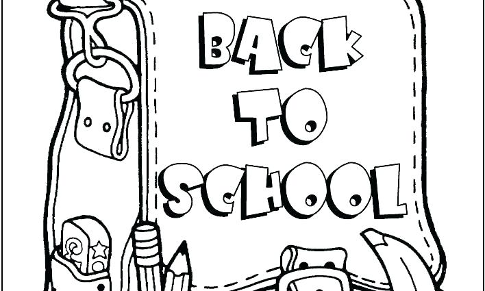 708x425 Preschool Coloring Pages Back To School