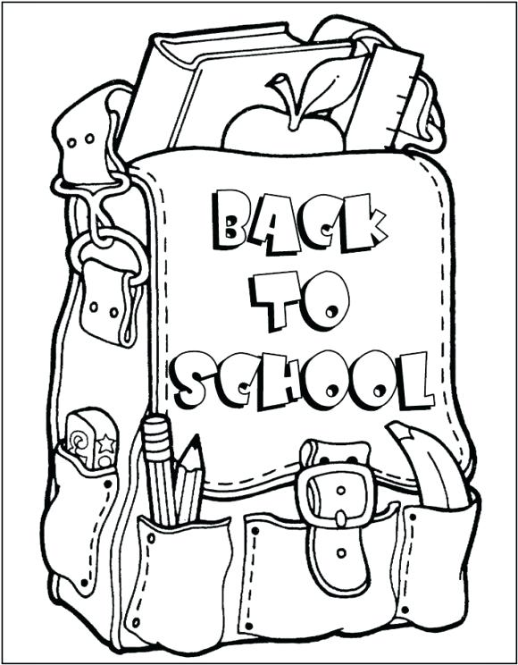 580x744 Back To School Coloring Pages Coloring Pages For Back To School