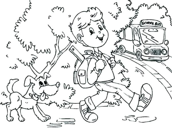 600x450 Back School Coloring Pages First School Coloring Pages Back