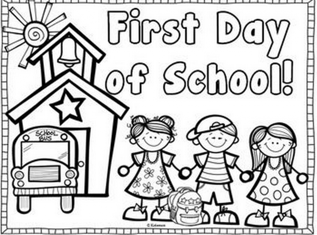 1080x800 Preschool Free Back To School Coloring Pages Printable Welcome