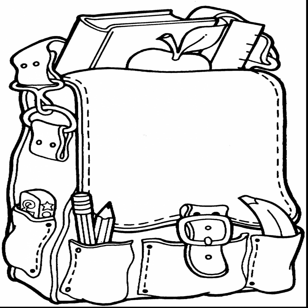 1024x1024 Back School Coloring Pages For Preschool With Regard