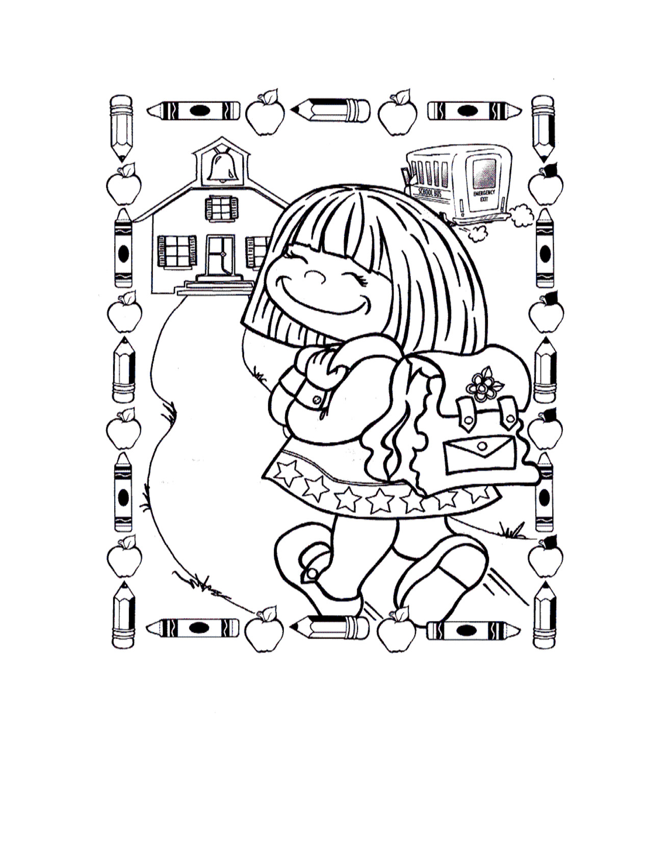 1275x1650 Welcome Back To School Coloring Pages For Preschoolers Page Inside