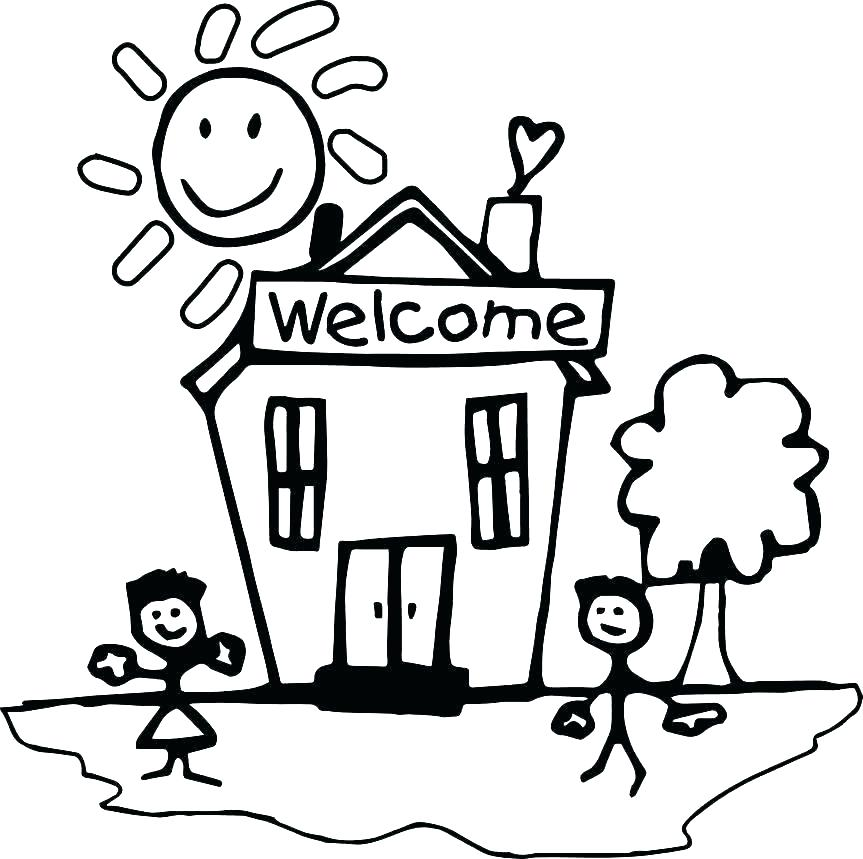 863x859 Back To School Coloring Pages For Preschool