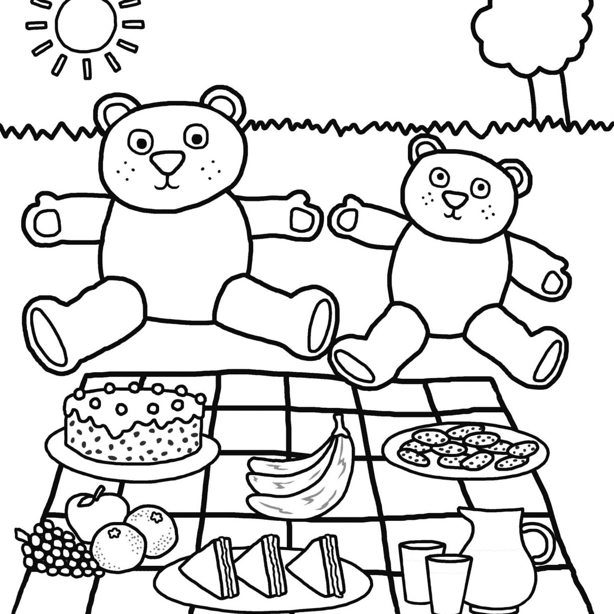1224x1224 Print Free Back To School Coloring Page Pages Preschool Printable