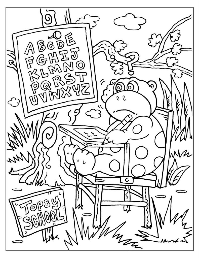 791x1024 Back To School Coloring Pages