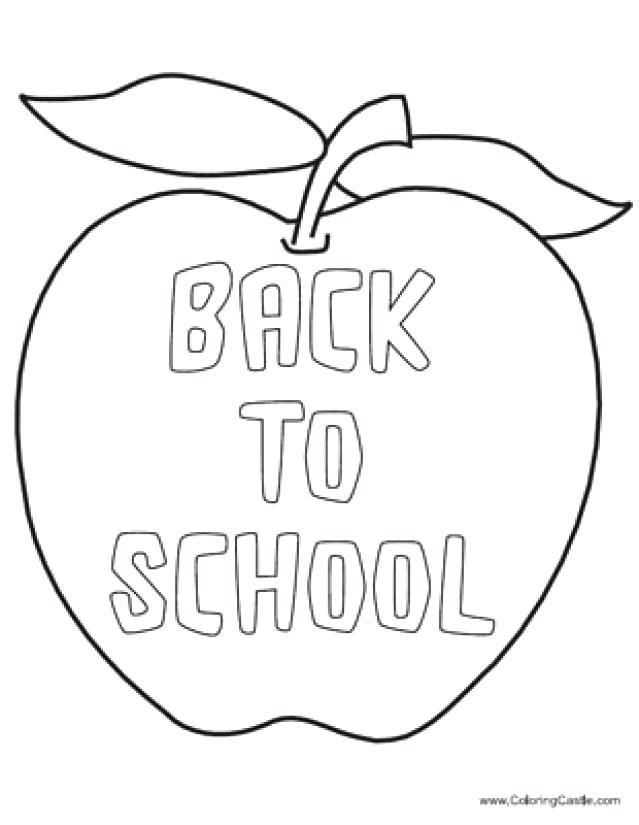 Back To School Coloring Pages Free Printables At Getdrawings Com