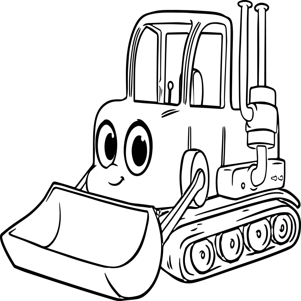 1024x1024 Bulldozer Coloring Page New Bulldozer Coloring Page Coloring Pages