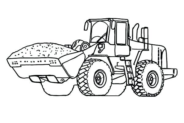 600x402 Bulldozer Coloring Pages Elegant Tractor Coloring Page For Print