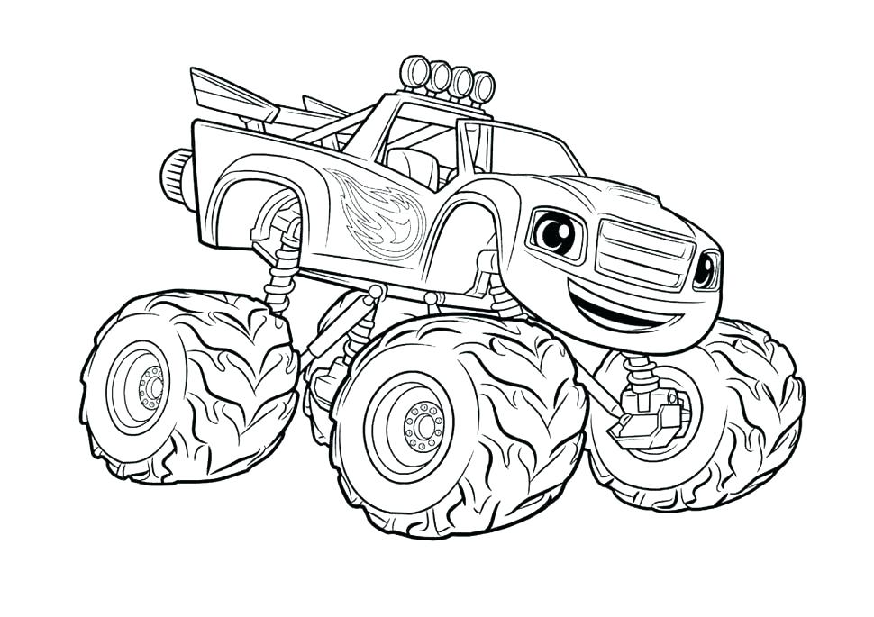 970x685 Digger Coloring Pages Grave Digger Coloring Page Monster Trucks