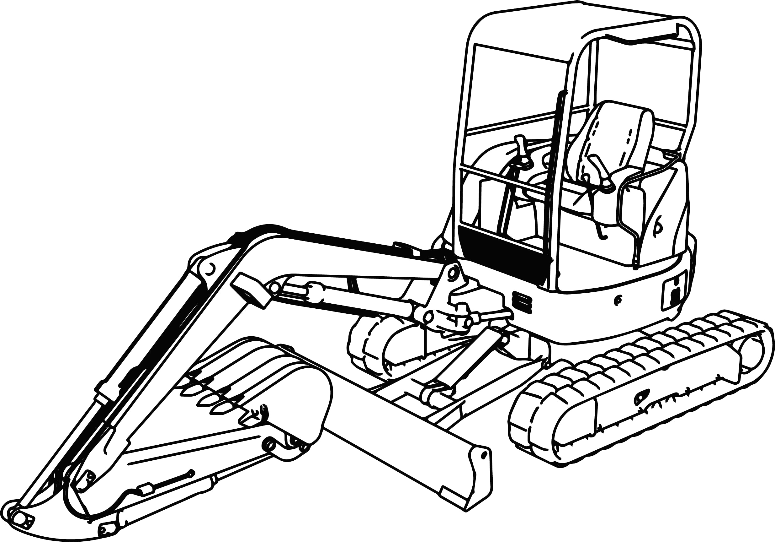 2471x1726 Drawing Digger Coloring Pages About Remodel Sheets
